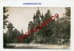 LAMBERSART-Commandement General-Chateau-CARTE PHOTO Allemande-Guerre 14-18-1WK-France-59-Militaria- - Lambersart