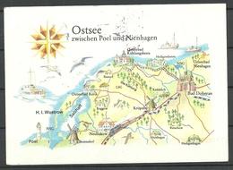 Deutschland DDR 1985 Ansichtskarte Ostsee, Gesendet 1990, Mit Briefmarke - Allemagne