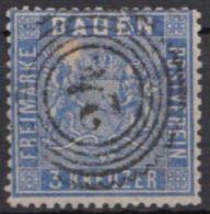 """10, Zentr. """"24"""", Karlsruhe, Druckausfall Der Marke Unter """"BA"""" Von Baden - Baden"""