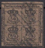 9 A, Zentriert Gestempelt - Braunschweig