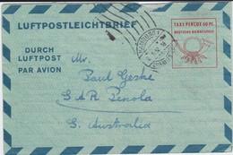 Bund Ganzsache Luftpost Faltbrief LF 7 Hamburg Eilbriefstelle 1952 - BRD
