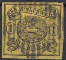11 A, Breitrandig, Zentriert Gestempelt - Braunschweig