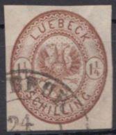 13, Breitrandig, Sauber Gestempelt - Luebeck