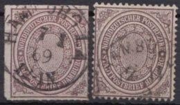 """12, 24 """"Stadtpost Hamburg"""", Beide Werte - Norddeutscher Postbezirk"""