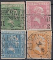9/12, Alle Klar Gestempelt, Fast Alle Voll- Bis Breitrandig - Preussen