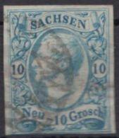 13 A, Vollrandig, Nummernstempel - Sachsen