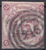 """24, Klar """"215"""", Marke Rechts Angeschnitten - Thurn Und Taxis"""