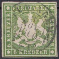 13, Vollrandig, Zentriert Gestempelt - Wuerttemberg