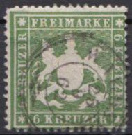 18 Y, Zentriert Gestempelt, übliche Zähnung - Wuerttemberg