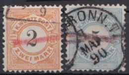 53/4, Markwerte Mit Telegraph. Entwertung - Wuerttemberg
