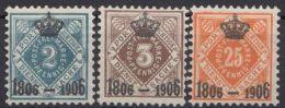 107/8, 111, Aufdrucke, Hauptwerte, *, Alle Sauberer Erstfalz - Wuerttemberg
