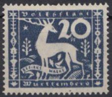"146 II ""fehlende Geweihstange"", *, Falzrest - Wuerttemberg"