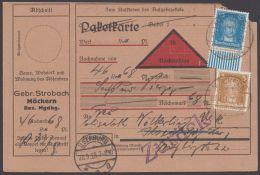 """393 W, UR-Stück Mit Zusatzfrankatur Auf NN-Karte """"Magdeburg"""", 27.9.28 - Deutschland"""