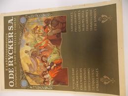 Affiche Poster - Pub Reclame Etabl. O. De Rycker SA - Bruxelles Forest - Litho F. Van Acker - Posters