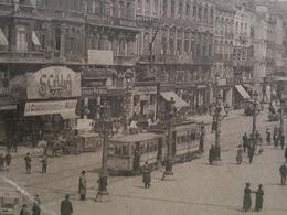 """Bruxelles - Place De Brouckère - Tramway Devant """"La Scala"""" - Marchand De Glace - Nels éditeur Série 1 N°102 - Marktpleinen, Pleinen"""