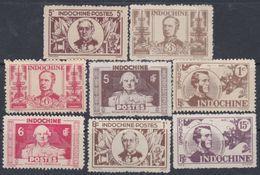 INDOCHINE N° 261 / 73 X Série Des Marins  : Les 15 Valeurs, Trace De Charnière Dentelure Hahituelle Sinon TB - Indochina (1889-1945)