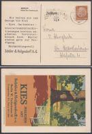 "513, Dek. Werbekarte ""Kies, Schüler& Heilgendorff"", Berlin, 1936 - Briefe U. Dokumente"