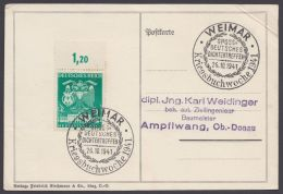 """769 I, Plattenfehler Auf Karte Mit Sst """"Weimar, Kriegsbuchwoche"""", 1941 - Briefe U. Dokumente"""