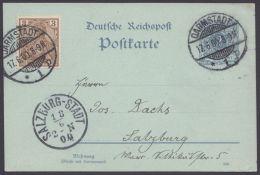 P 40 Bb I, Mit Zusatzfr. Reichspost Nach Salzuburg - Deutschland