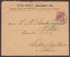 "PU 19 B 2 ""Zwickau, Thost"", Bedarf 1899 - Deutschland"