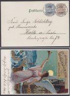 """PP 18 C 2/01 """"Glückwünsche Zum Jahreswechsel"""", Sauber """"Halle"""", 1.1.01 - Deutschland"""