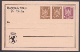 """PP 87 A 1/02 , Seltene Rohrpostkarte """"Berlin"""", * - Deutschland"""