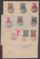 """PU 46/8 """"Weimar-Nationalversammlung"""", 1919, Alle 3 Umschläge, Pass. Sst. - Deutschland"""