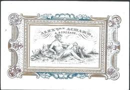 Carte Porcelaine Alexandre Achard  Bordeaux   13 X 9 Cm - Bordeaux