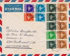 Lettre Bhavnagar Inde India Suisse Switzerland Delémont - India