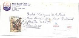 """ALLIANCE  FRANCAISE . Lycée  """" Jean  Mermoz """" Curico . Devant D'enveloppe . - Chile"""