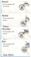 """BELG.1995 2615 2616 2617 & 2618 - FDC - Oude Moto's / Motos Anciennes """" - FDC"""