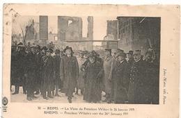 Cpa 51 Reims Visite Président Wilson - Reims