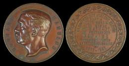 M01821 ANCIENS ELEVES ECOLE Des MINES Du HAINAUT Au PROFESSEUR EDOUARD HANUISE - 1867-1892 - Son Profil  (56 G) - Professionnels / De Société