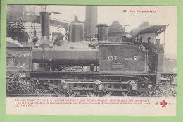 Cie De L'Est : Machine Tender 165 Service Des Gares. TBE. 2 Scans. Locomotives, Edition Fleury - Matériel