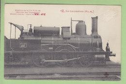 Cie  PLM : Machine 857, Service Voyageurs, Modèle Ancien. 2 Scans. Locomotives, Edition Fleury - Matériel