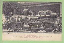 Cie  PLM : Locomotive Compound, Seule Du Réseau, Pour Trains Grande Vitesse. TBE. 2 Scans. Locomotives, Edition Fleury - Matériel