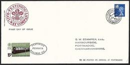 1972 - GREAT BRITAIN [WALES] - Cover [FDC] + Railway + SG W14 + PORTMADOG - 1971-1980 Em. Décimales