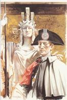 Carabinieri - Biglietto 4 Pagine - Illustrazione I. Janni - Il Carabiniere E La Patria - Militaria