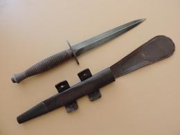Dague Fairbairn & Syke 3ème Modèle, Avec B2 Et Broad Arrow. - Armes Blanches