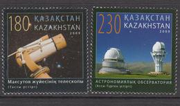 2009 Kazakhstan Astronomy Telescopes Observatory Set Of 2 MNH - Kazakhstan