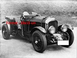 Reproduction D'une Photographie Ancienne D'une Bentley 45 Litres Cabriolet - Reproductions