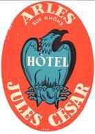 ETIQUETA DE HOTEL  - HOTEL JULES CÉSAR  -ARLES (SUR RHONE)  FRANCIA - Etiquetas De Hotel