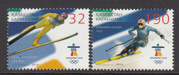 2010 Kazakhstan Winter Olympics Vancouver Set Of 2 MNH - Kazakhstan