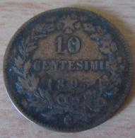 Italie - Monnaie 10 Centesimi Umberto I 1893 BI (Birmingham) - 1861-1946 : Royaume