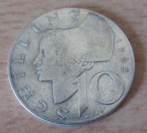 Autriche - Monnaie 10 Schilling 1958 En Argent 640 ‰ - Autriche
