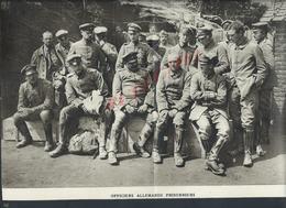 MILITARIA 14/18  COUPURE DE PRESSE MILITAIRE DU JOURNAL ILLUSTRATION OFFICIERS ALLEMANDS PRISONNIERS : - 1914-18