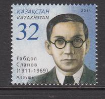 2011 Kazakhstan Gabdol Slanov Writer Set Of 1 MNH - Kazakhstan