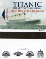 Titanic The Artfact Exhibition At The Tropicana Las Vegas-2338 -  Key Card, Little Bended Left Corner - Hotel Keycards