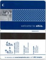 Hampton Inn Welcome To Ohio-2326. Key Card, Room Key, Clef De Hotel, Sleutelkaart - Hotel Keycards