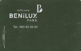 Hotel-Benilux-Park-Benidorm-2329. Key Card, Room Key, Clef De Hotel, Sleutelkaart - Hotel Keycards
